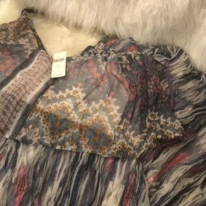 Anthropologie Dresses - 🆕NWT Anthropologie ruffled bohemian maxi dress